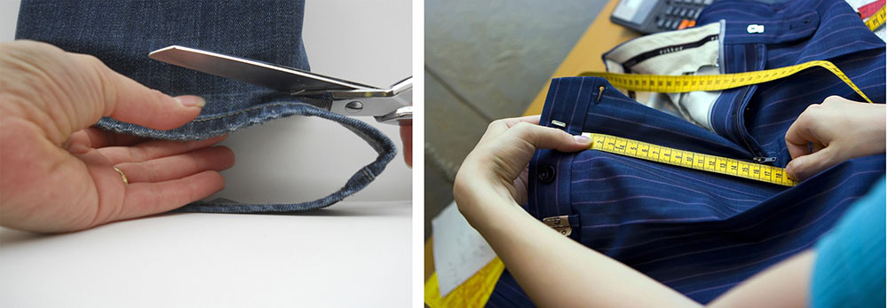 Ремонт брюк, джинс