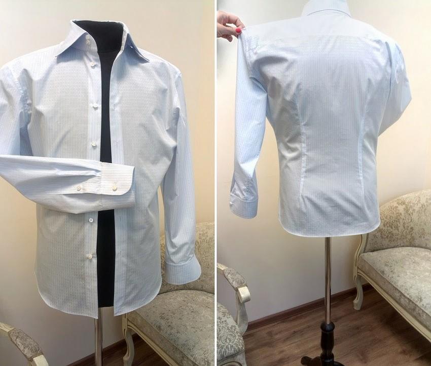 Перешить и подогнать рубашку
