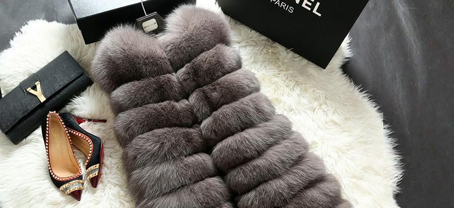 Модный меховой жилет. Составляем образ