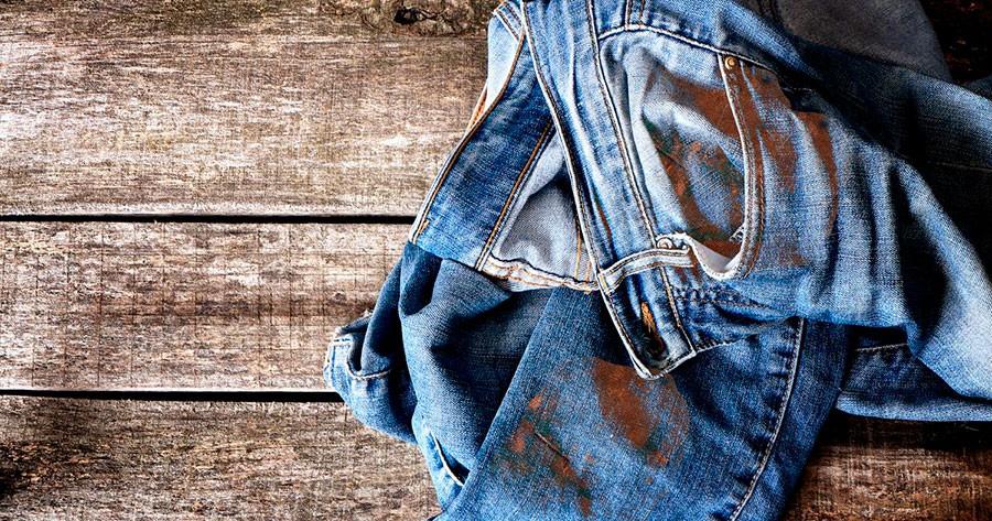 Как отстирать ржавчину с джинсов
