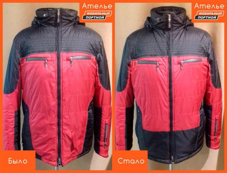 Ремонт разрыва на куртке из ткани
