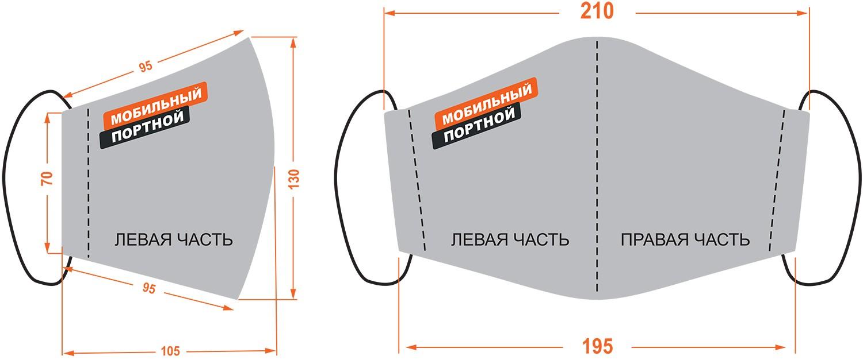 Маска стандартного размера