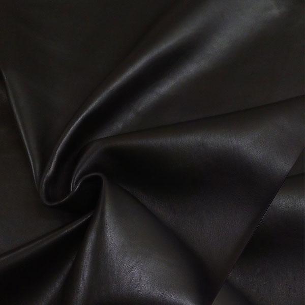 Черная одежная кожа для пошива