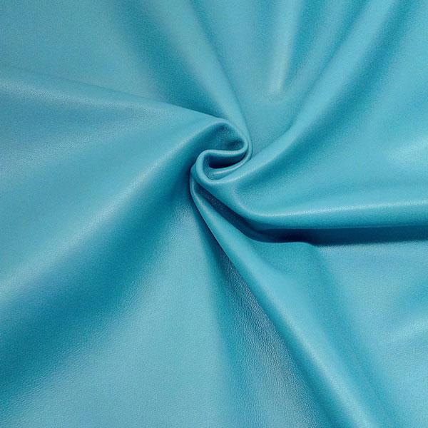 Голубая одежная кожа для пошива