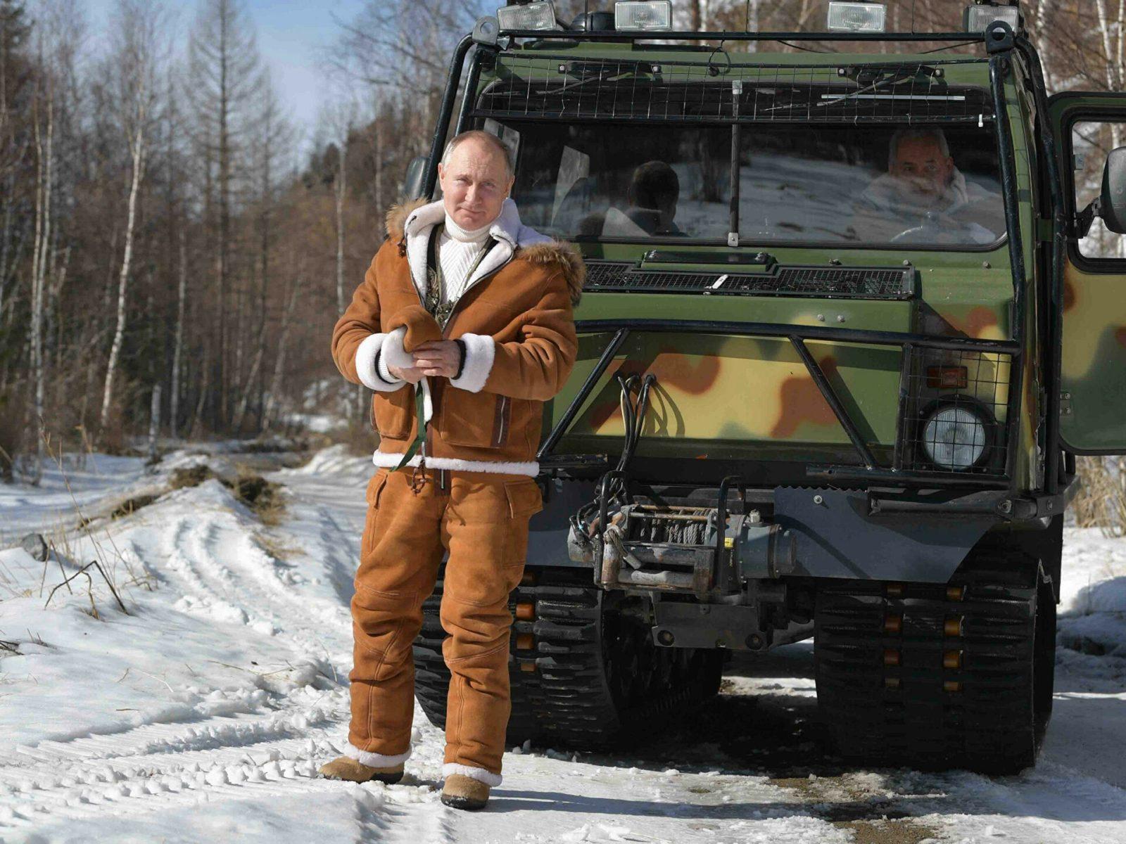Охотничий костюм Владимира Путина, Сергея Шойгу для тайги