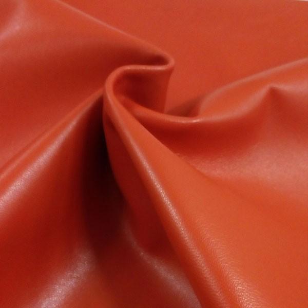 Оранжевая одежная кожа для пошива