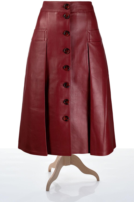Пошив юбки на из кожи