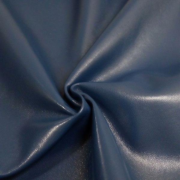 Синяя одежная кожа для пошива