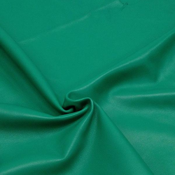 Зеленая одежная кожа для пошива