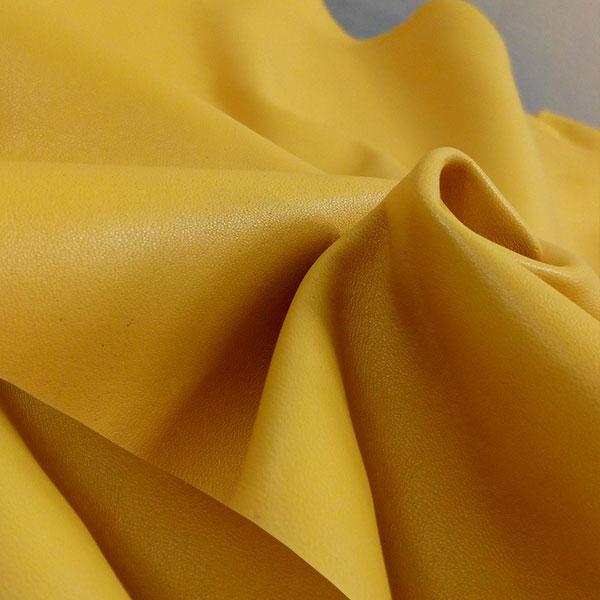 Желтая одежная кожа для пошива